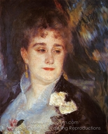 Portrait of Madame Georges Charpeitier painting reproduction, Pierre-Auguste Renoir