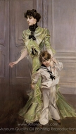 Portrait of Madame Georges Hugo and Her Son, Jean painting reproduction, Giovanni Boldini