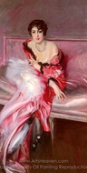 Portrait of Madame Julliard in Red painting reproduction, Giovanni Boldini