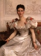 Portrait of Madame la Comtesse de Cambaceres painting reproduction, William A. Bouguereau