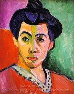 Portrait of Madame Matisse (Green Stripe) painting reproduction, Henri Matisse