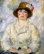 Portrait of Madame Renoir painting reproduction, Pierre-Auguste Renoir