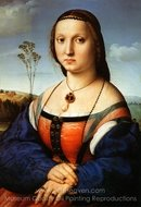 Portrait of Maddalena Doni painting reproduction, Raphael Sanzio