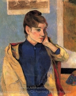 Portrait of Madelaine Bernard painting reproduction, Paul Gauguin