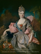 Portrait of Mar�a Josefa Drummond painting reproduction, Jean-Baptiste Oudry