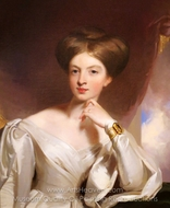 Portrait of Margaret H. Sandford painting reproduction, Thomas Sully