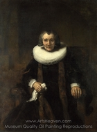 Portrait of Margaretha de Geer, Wife of Jacob Trip painting reproduction, Rembrandt Van Rijn