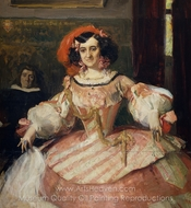 Portrait of Maria Guerrero painting reproduction, Joaquin Sorolla
