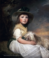 Portrait of Marianne Holbech painting reproduction, George Romney