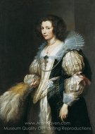 Portrait of Marie-Louise de Tassis painting reproduction, Sir Anthony Van Dyck