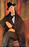 Portrait of Mario Varvogli painting reproduction, Amedeo Modigliani