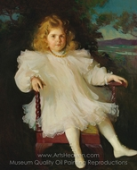 Portrait of Marjorie Coldwell Westinghouse painting reproduction, Frank Weston Benson