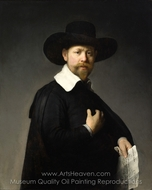 Portrait of Marten Looten painting reproduction, Rembrandt Van Rijn