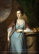 Portrait of Martha Cadwalader Dagworthy painting reproduction, Charles Willson Peale
