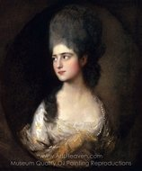 Portrait of Miss Elizabeth Linley (later Mrs. Richard Brinsley Sheridan) painting reproduction, Thomas Gainsborough