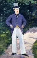 Portrait of Monsieur Brun painting reproduction, �douard Manet