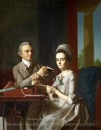 Portrait of Mr. and Mrs. Thomas Mifflin (Sarah Morris) painting reproduction, John Singleton Copley