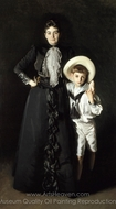 Portrait of Mrs. Edward L. Davis and Her Son, Livingston Davis painting reproduction, John Singer Sargent
