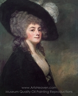 Portrait of Mrs. Harriet Greer painting reproduction, George Romney