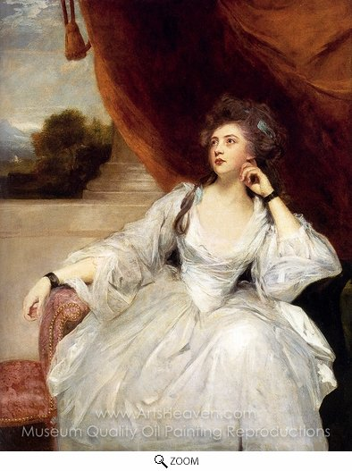 Sir Joshua Reynolds, Portrait of Mrs. Stanhope oil painting reproduction