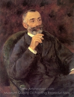 Portrait of Paul Berard painting reproduction, Pierre-Auguste Renoir