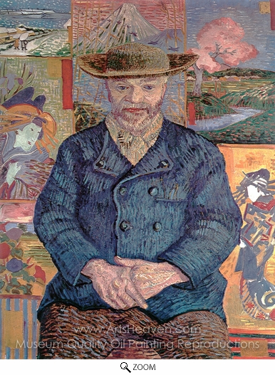 Vincent Van Gogh, Portrait of Pere Tanguy oil painting reproduction
