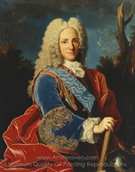 Portrait of Philip V of Spain painting reproduction, Jean Ranc