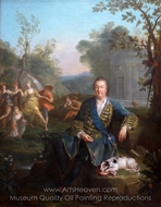 Portrait of Philippe de Vendome painting reproduction, Jean Raoux