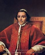Portrait of Pope Pius VII painting reproduction, Jacques-Louis David