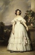 Portrait of Princess Clementine of Orleans painting reproduction, Franz Xavier Winterhalter
