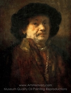 Portrait of Rembrandt van Rijn painting reproduction, Rembrandt Van Rijn