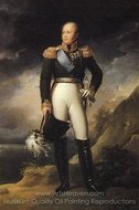 Portrait of Russian emperor Alexander I painting reproduction, Francois Gerard