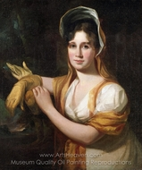 Portrait of Sarah Sully, Wife of the Artist painting reproduction, Thomas Sully