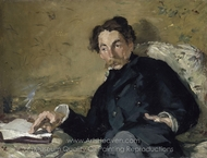 Portrait of Stephane Mallarme painting reproduction, �douard Manet
