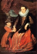 Portrait of Susanna Fourment and Her Daughter Clara painting reproduction, Sir Anthony Van Dyck