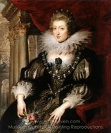 Portrait of the Anne of Austria painting reproduction, Peter Paul Rubens