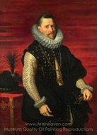 Portrait of the Archduke Albert painting reproduction, Peter Paul Rubens