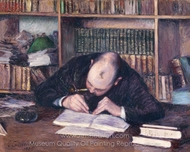 Portrait of the Bookseller E. J. Fontaine painting reproduction, Gustave Caillebotte