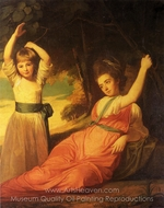 Portrait of the Children of Charles Boone painting reproduction, George Romney