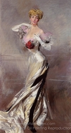 Portrait of the Countess Zichy painting reproduction, Giovanni Boldini