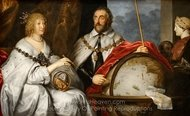 Portrait of the Earl and Countess Arundel painting reproduction, Sir Anthony Van Dyck