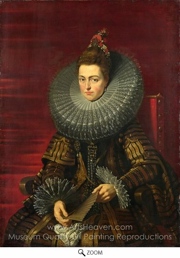 Peter Paul Rubens, Portrait of the Infanta Isabella oil painting reproduction