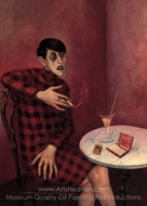 Portrait of the Journalist Sylvia Von Harden painting reproduction, Otto Dix
