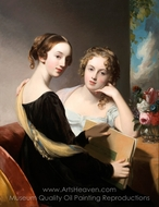 Portrait of the Misses Mary and Emily McEuen painting reproduction, Thomas Sully