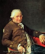 Portrait of the Painter's Father-in-law painting reproduction, Jacques-Louis David