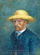 Portrait of Theo van Gogh painting reproduction, Vincent Van Gogh
