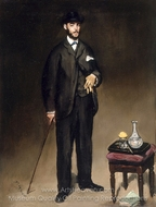 Portrait of Theodore Duret painting reproduction, �douard Manet