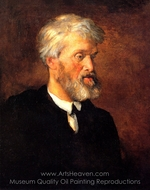 Portrait of Thomas Carlyle painting reproduction, George Frederic Watts