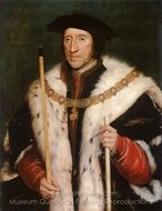 Portrait of Thomas Howard, third Duke of Norfolk painting reproduction, Hans Holbein, The Younger