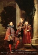 Portrait of Three Children painting reproduction, Sir Anthony Van Dyck